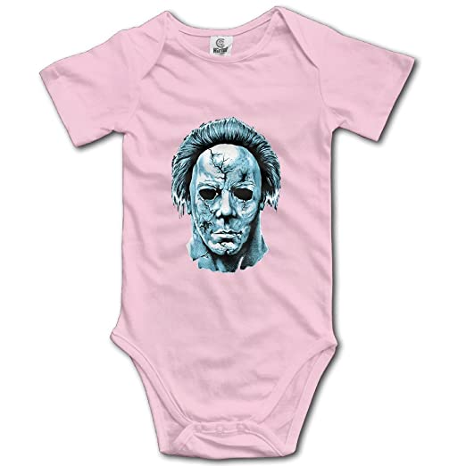 e56dabd42 Cool Michael Myers Baby Romper Short Sleeve Babysuit Baby Onesie For Boy  Girl Pink 6 M