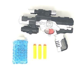 Buy Akrobo 2-In-1 Black Hawk Pistol/Gun With 400 Jelly Shots & Soft