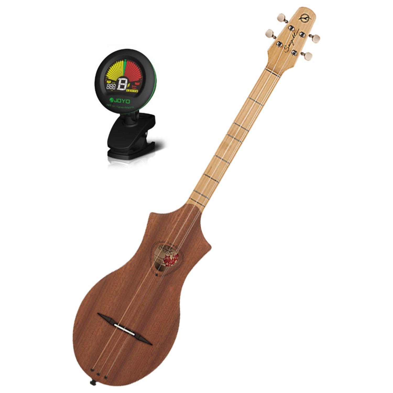 Seagull 039098 Merlin Natural Mahogany Dulcimer Guitar w/ Tuner by Seagull