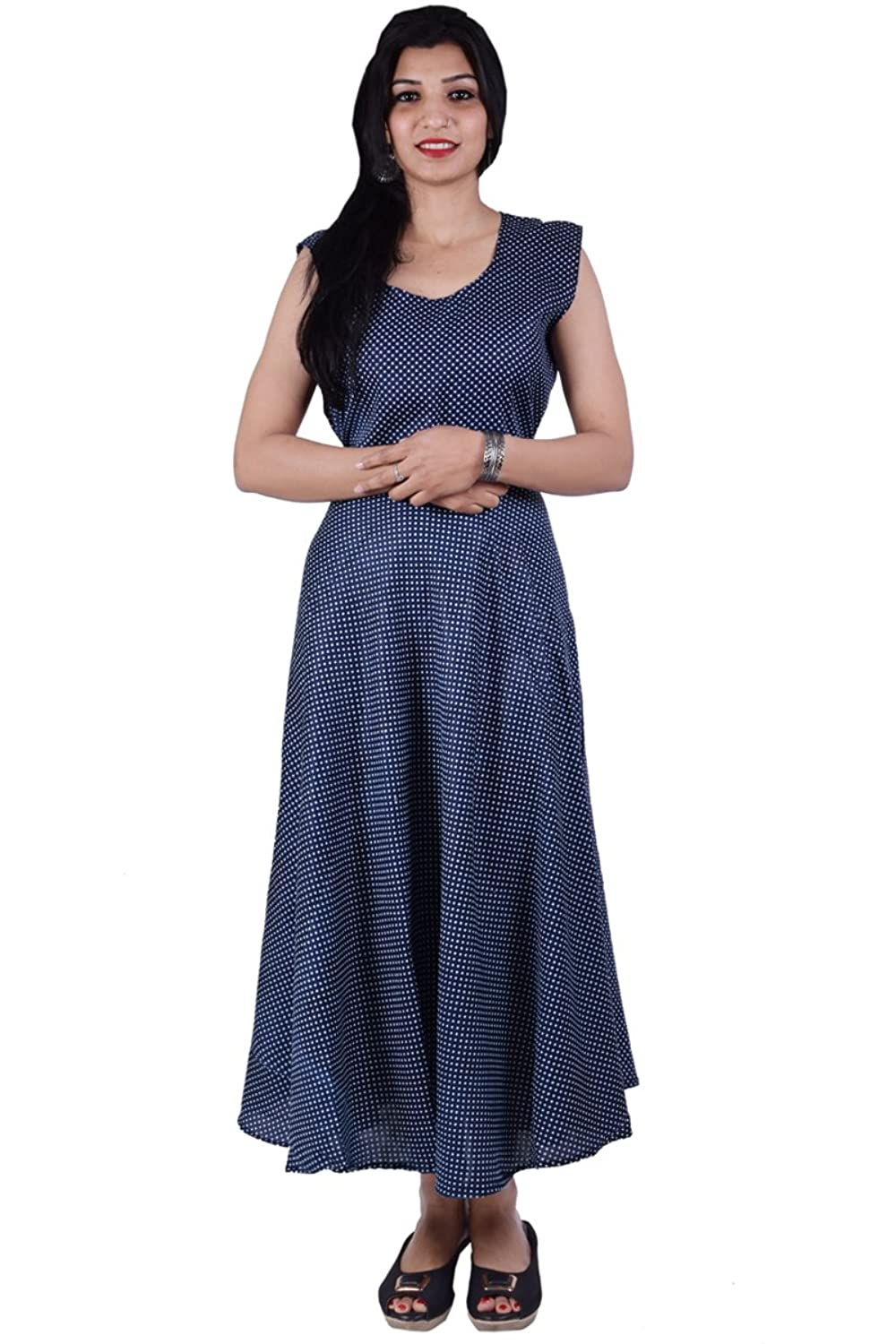 Rayon Maxi Dress for Women