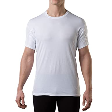 e9df8ce67284 Sweatproof Undershirt for Men with Underarm Sweat Pads (Original Fit ...