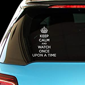 PressFans - Keep Calm and Watch Once Upon A TIME Car Laptop Wall Sticker