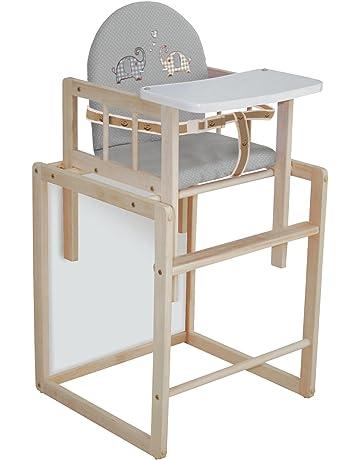 Trona Combi roba, trona con bandeja transformable en silla y mesa independientes, trona infantil