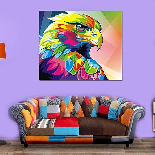 jzxjzx Colorido Animal águila sin Marco Lienzo núcleo hogar ...