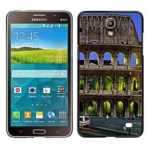 Samsung Galaxy Mega 2 / SM-G750F / G7508 Único Patrón Plástico Duro Fundas Cover Cubre Hard Case Cover - Architecture Colossus Building City
