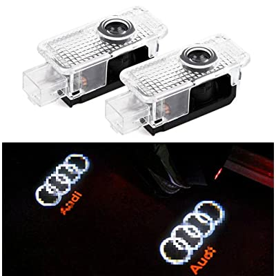 Crystal for Audi A8 A6L A5 A6 A4L A4 A1 R8 Q7 TT Car LED Projector Door Ghost Shadow Welcome Logo Light: Automotive