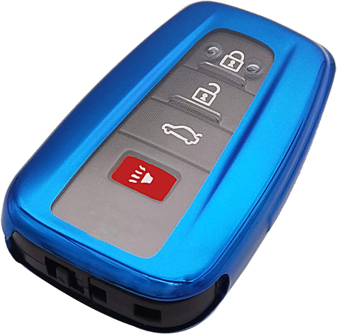 Red TPU 3//4 Buttons Key Fob Cover Case Jacket Skin Bag Glove Holder for 2018 2019 2020 Toyota Camry RAV4 Avalon C-HR Corolla 2017 Prius Remote