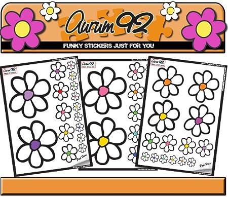 46/adesivi multicolore e margherita