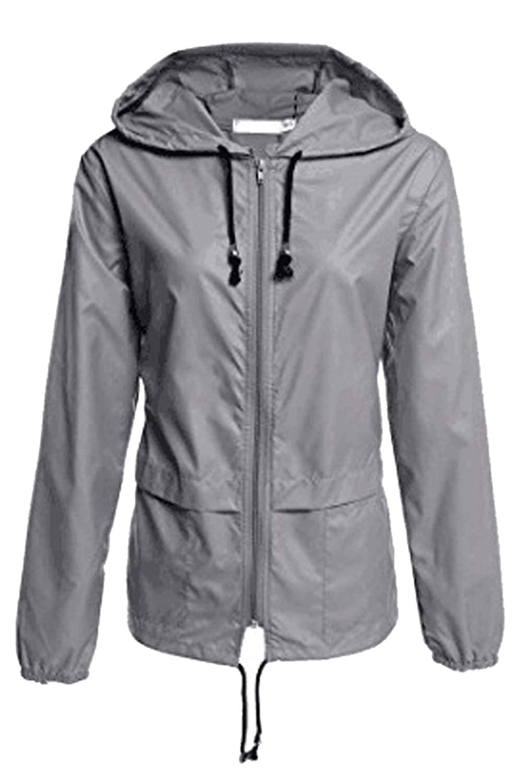Simgahuva Raincoats Women Waterproof Lightweight Outdoor Hooded Trench