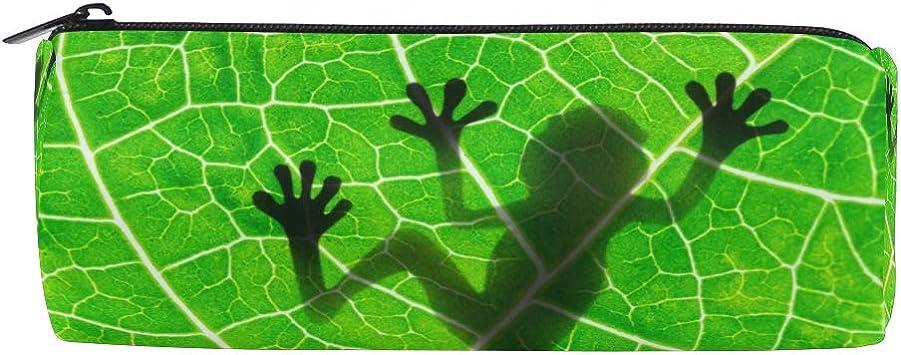 BETTKEN Zipper Pencil Case Animal Frog Tree Leaves Roll Pencil Pen Bag Holder Makeup Pouch Bag