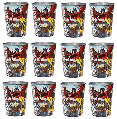 Transformer Party Cup Reusable Cups (12x) ~ Birthday Party Supplies Plastic Favors