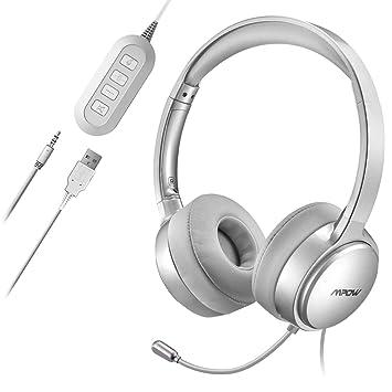 Mpow Micro Casque Pc Audio Filairecasque Téléphone Professionnel