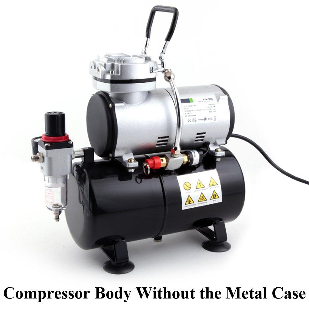 Compresor de aerógrafo Fengda FD-186A con calderín/ORIGINAL FENGDA/regulador de presión / 3L / 4 bar/parada automática: Amazon.es: Bricolaje y herramientas