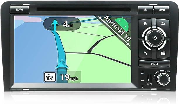 YUNTX Android 10 Autoradio Compatible con Audi A3 (2003-2011) - GPS 2 DIN - Cámara Trasera&Canbus Gratis - 7 Pulgada - 2GB/32GB - Soporte Dab+ / ...