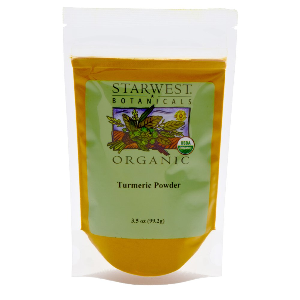 Starwest Botanicals Organic Turmeric Root Powder, 3.5 Ounce Pouch Curcumin Spice