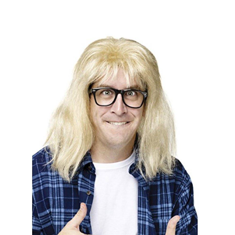 MyPartyShirt Garth Algar Wayne's World Wig and Glasses
