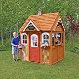 FSC Certified Cedar Wood Outdoor Children's Playhouse with Many Extras