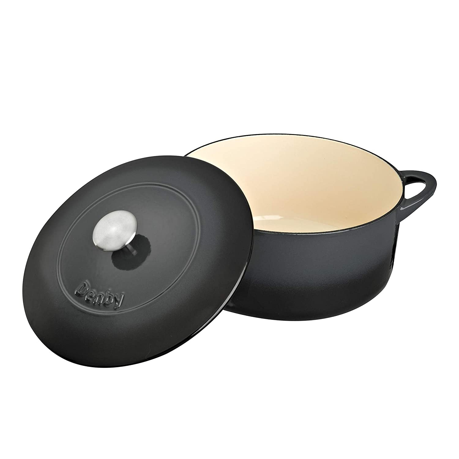 Amazon.com: Denby Halo - Cacerola redonda (10.2 in): Kitchen ...