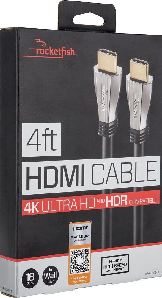 Rocketfish 4 ft HDMI 18GBps Ultra HD 4Kx2K 1080p