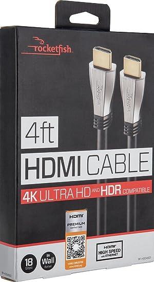 rocketfish 4 ft hdmi 18gbps ultra hd 4kx2k 1080p amazon ca electronics rh amazon ca