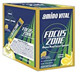 Focus Zone Amino Acid (BCAAs, Glutamine, Arginine) + Electrolyte Hydration Drink Mix, Lemon Splash, 32 Single-Serve Stick Packs