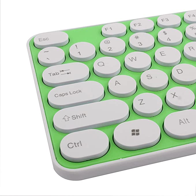 Amazon.com: eDealMax 2.4G óptico teclado ratón inalámbrico de teclado de la película Verde del kit Para la PC de la computadora: Electronics