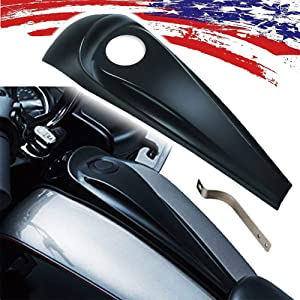 Smooth Dash Fuel ConsolePanel InsertCover ForHarley Street Road GlideTouring FLHT FLHX 2008-2017