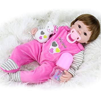 6069f30060c5f Amazon.com   Samber Handmade Soft Silicone Newborn Dolls Lifelike Reborn  Baby Doll Rubber Artificial Doll Simulation of Regenerated Baby Doll  Accompany ...