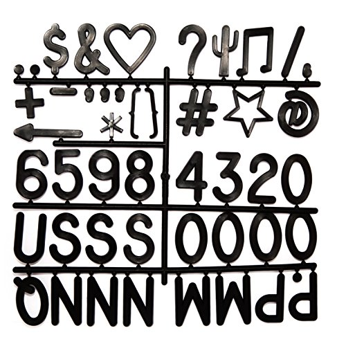 Helvetica Font Letters - Weißfox Black Plastic Character Set – 93 2 inch Letters & Symbols, Helvetica Font   for Changeable Letter Boards