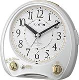 リズム時計 メロディ 目覚まし 時計 アナログ アリアカンタービレ 38曲高音質メロディ搭載 白 RHYTHM 4RM763SR03