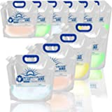 WaterStorageCube Premium Collapsible Water Container Bag, BPA Free Food Grade Clear Plastic Storage Jug for Camping…