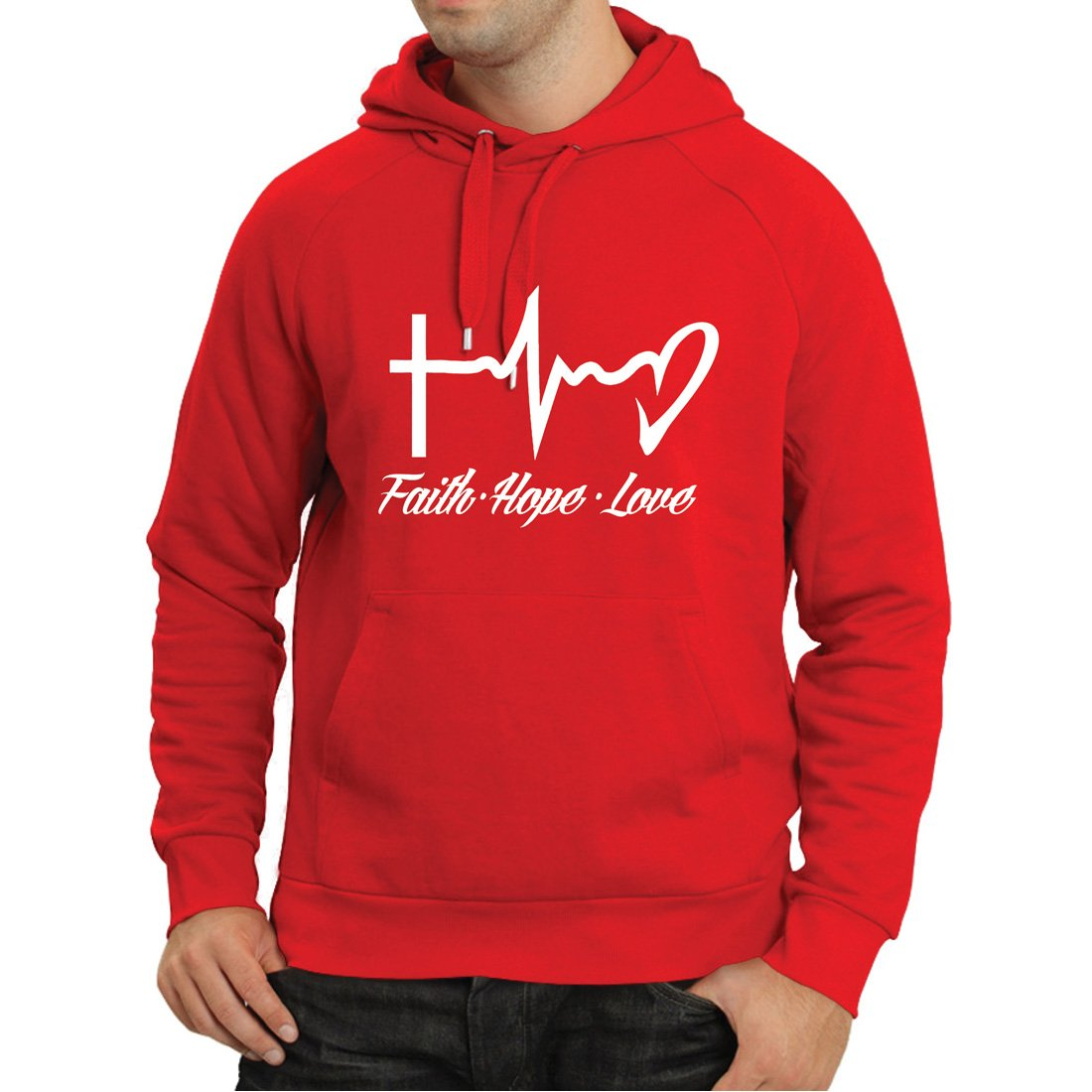 Amazon.com: lepni.me Hoodie Faith - Hope - Love - 1 Corinthians 13:13, Christian Quotes and Proverbs, Religious Sayings: Clothing