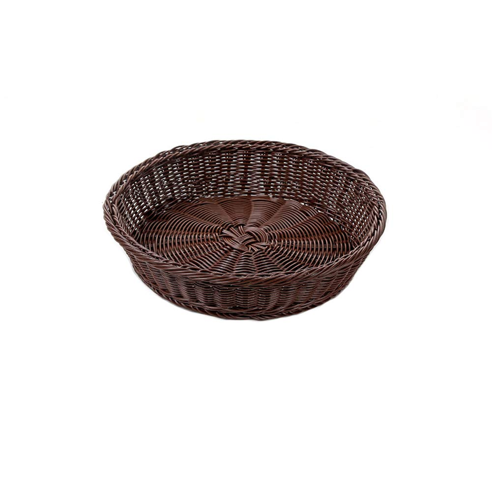 Woven Bread Roll Baskets,Rattan Weaved Fruit Basket, Dishwasher Safe Hand Woven Food Serving Baskets, Basket, Restaurant (Small) YOTHG