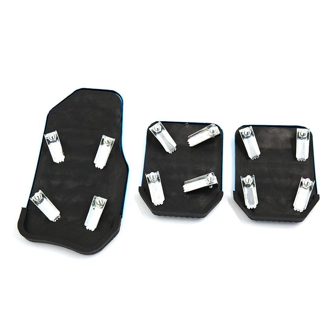 DealMux 3 en 1 azul metálico antideslizante del pedal del acelerador Transmisión Embrague de onda pastillas de freno Juego de Carcasas para el coche: ...