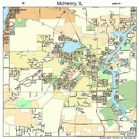 Amazon Com Large Street Road Map Of Mchenry Illinois Il