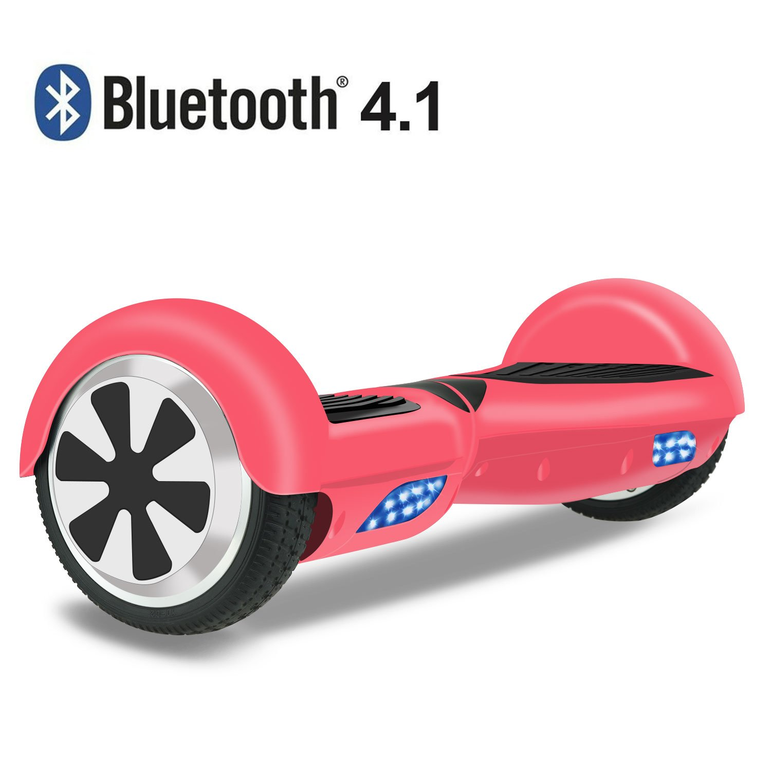 Hoverboard Two-wheel Self-balancing Scooter- OTTO UL2272 Certificated 6.5'' All-terrian Aluminum Alloy Wheels,250W Dual Motor 225lbs Max Weight, Pink by OTTO