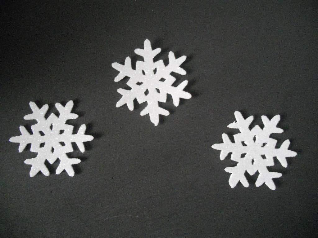 6 Copos De Nieve Para Decorar En Navidad De Goma Eva Brillante 6 5