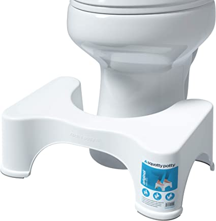 Zripool Bathroom Squatting Stool U-Shaped Squatting Toilet Stool Non-Slip Pad Bathroom Helper Assistant Footseat Relieves Constipation Piles