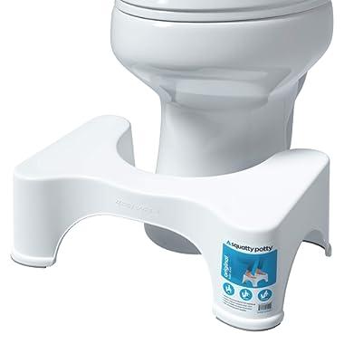 Squatty Potty The Original Bathroom Toilet Stool, 7  height, White