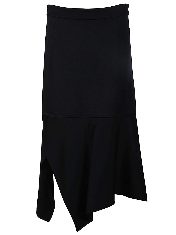 Victoria Beckham Women's SKMID3301BLACK Black Acetate Skirt