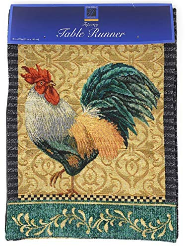 Windham Home Tapestry Table Runner, 72-Inch x 13-Inch (Rooster)