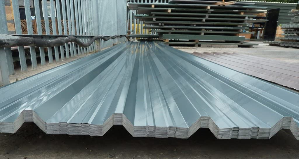 Rhino Steel Cladding Box Profile Slate Grey Polyester Coated Metal Steel Roofing Sheets Parcel Of 10 X Roof Sheets 01675 462692 8 2 44m Lengths Amazon Co Uk Garden Outdoors