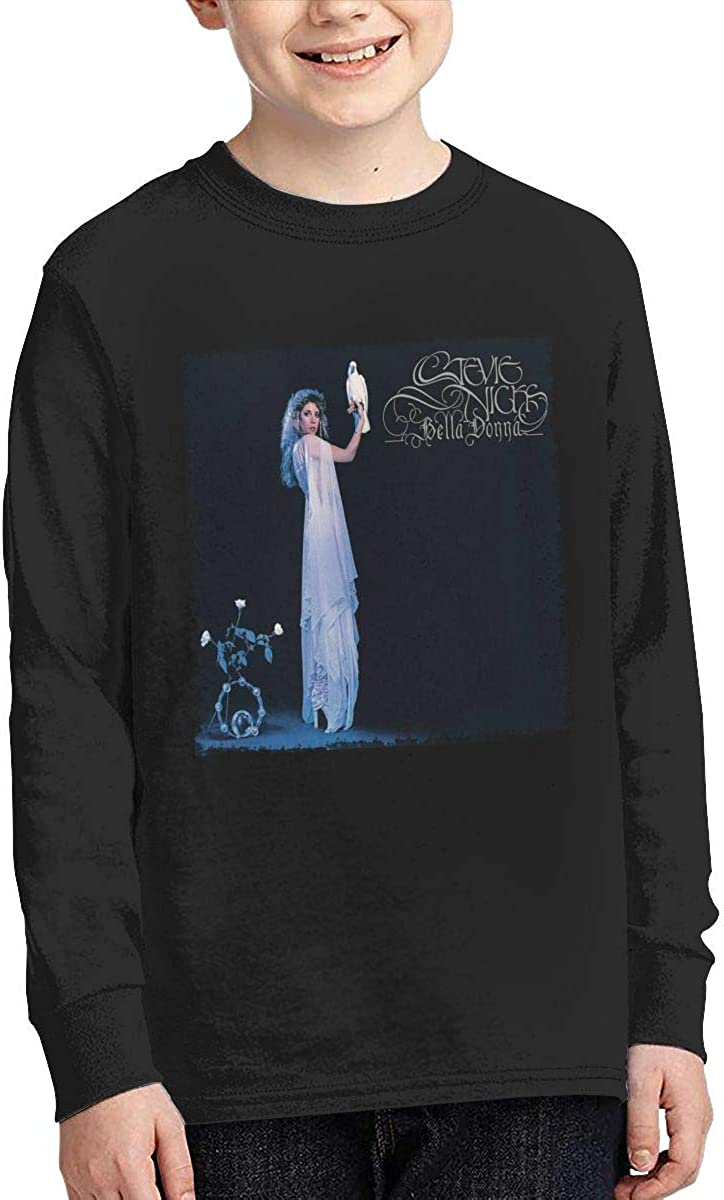 RhteGui Stevie Nicks Bella Donna Boys /& Girls Junior Vintage Long Sleeve T-Shirt Black