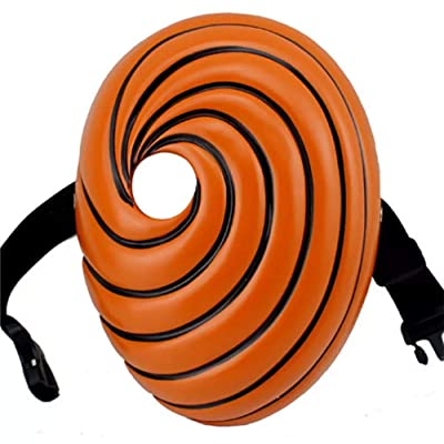 Molagogo Cosplay Anime Naruto Akatsuki Tobi Uchiha Obito Naruto Madara Mask Halloween Party Prop Resin: Clothing