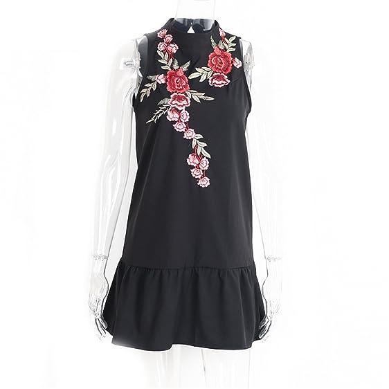 DaveDu bordados de flores mulheres dress vestido sem mangas halter sexy evening dress inverno novo plissado