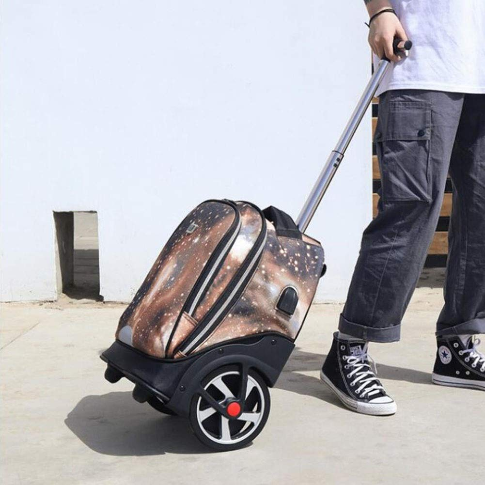 Accessories Color : T1, Size : 30X25X50CM QY Unisex Tie Rod Roller School Bag Womens Mens Backpack Bag Designer Backpack College Travel On Foot Cycling Backpack QY Bags, Cases & Sleeves
