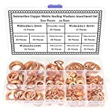 Sutemribor 300Pcs 12 Sizes Copper Metric Sealing Washers Assortment Set