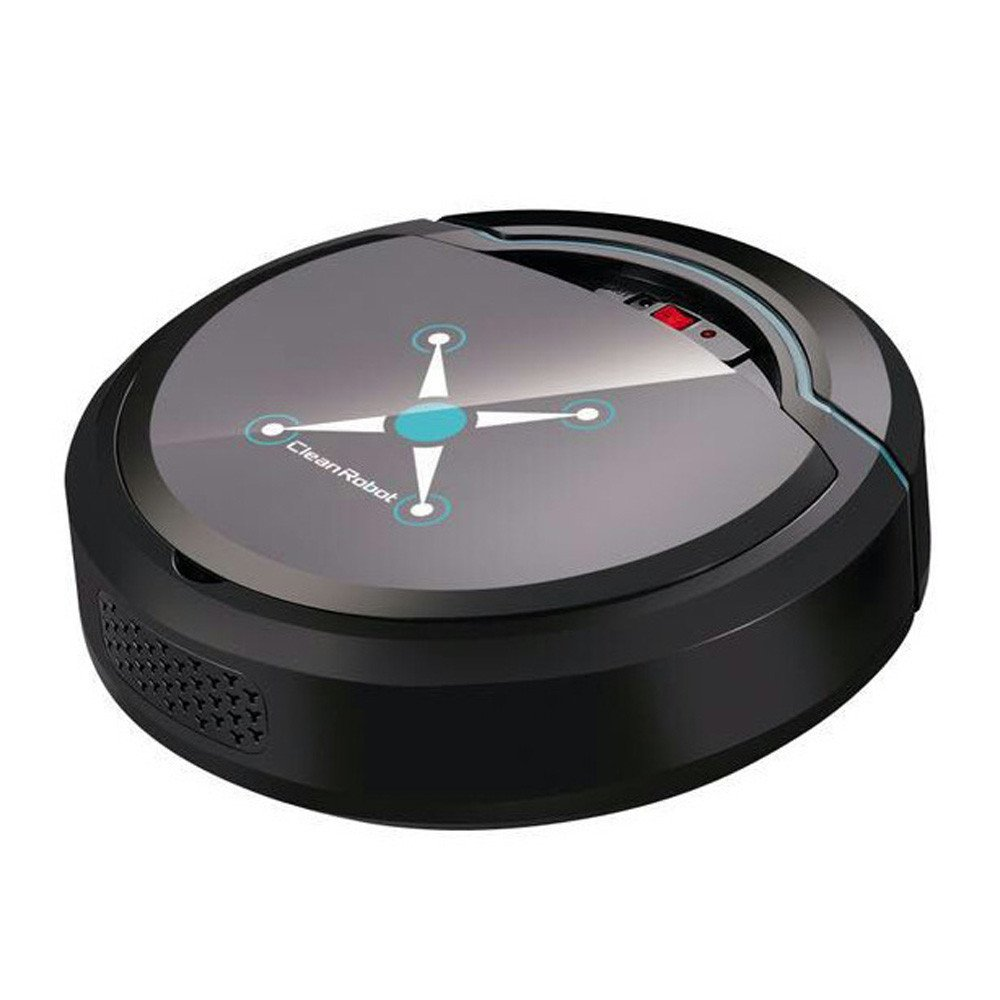 Sonmer Automatic Smart Vacuum Cleaner Sweeping Robot,USB Port Charging (Black)