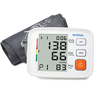 #16 Upper Arm Digital Blood Pressure Monitor with WHO Indicator and Large LCD Screen for 2 Users