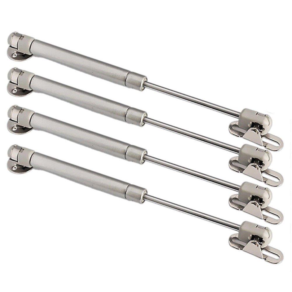 4 bisagras de cierre suave de puntal de gas para armario, ascensor, gabinete, aparador 80 nm con tornillos OMIdeas